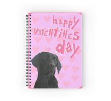 Black Labrador Happy Valentine's Day Spiral Notebook