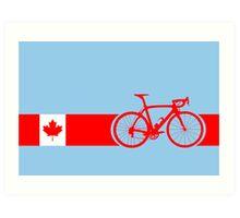 Bike Stripes Canadian National Road Race Art Print