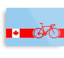 Bike Stripes Canadian National Road Race Metal Print
