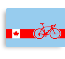 Bike Stripes Canadian National Road Race Canvas Print