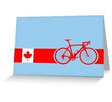 Bike Stripes Canadian National Road Race Greeting Card