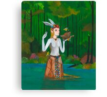 The Forest Sapphire Canvas Print