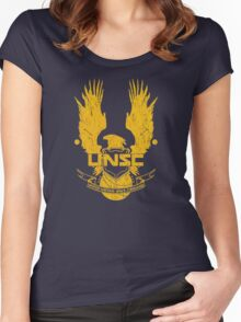 Halo United Nations Space Command crest Women's Fitted Scoop T-Shirt