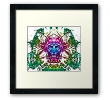 Smoke Warrior Framed Print