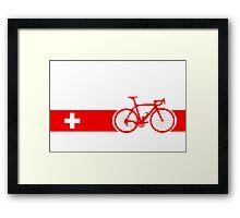 Bike Stripes Switzerland Framed Print