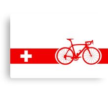 Bike Stripes Switzerland Canvas Print