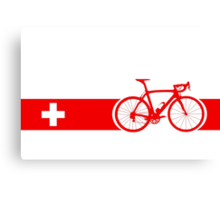Bike Stripes Switzerland Canvas Print