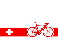 Bike Stripes Switzerland Photographic Print
