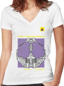Owners' Manual - Klingon Bird of Prey - T-shirt Women's Fitted V-Neck T-Shirt