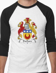 Durham Coat of Arms / Durham Family Crest Men's Baseball ¾ T-Shirt