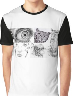 Ink Collage  Graphic T-Shirt