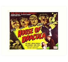 House of Dracula Art Print