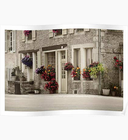 Flowers in the streets Poster
