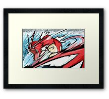 Shiny Gyarados | Aqua Tail Framed Print