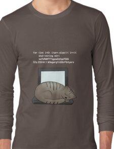 Lazy Cat (black) Long Sleeve T-Shirt