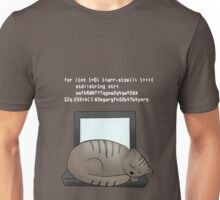 Lazy Cat (black) Unisex T-Shirt