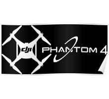 Phantom 4 DJI Drone white Poster