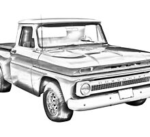 1965 Chevrolet Pickup Truck Illustration by KWJphotoart