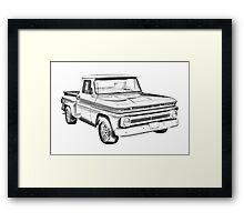 1965 Chevrolet Pickup Truck Illustration Framed Print