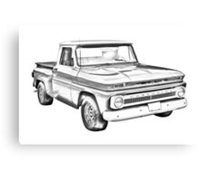1965 Chevrolet Pickup Truck Illustration Canvas Print