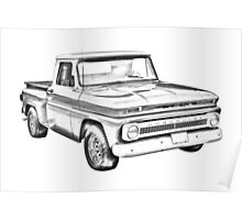 1965 Chevrolet Pickup Truck Illustration Poster
