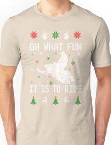 Snowmobile Ugly Christmas Tees Unisex T-Shirt