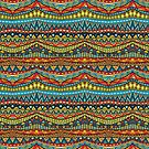Tribal Boho Geometric by SpiceTree