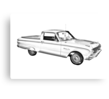 1962 Ford Falcon Pickup Truck Illustration Canvas Print