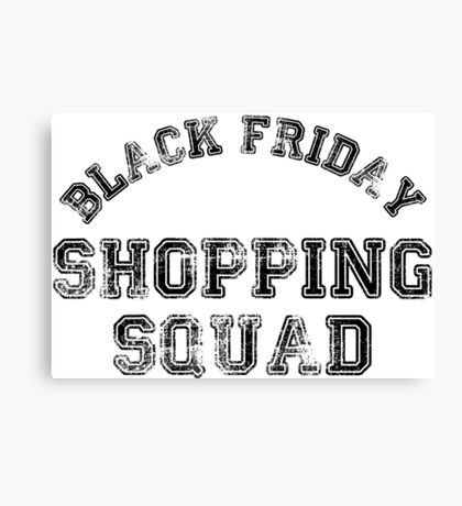 Black Friday Shopping Squad Canvas Print