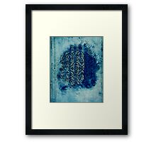 mosaic in cyan Framed Print