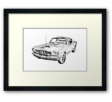 1966 Ford Mustang Fastback Illustration Framed Print