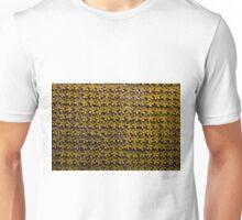 Floral metallic pattern design. Elegant decorative background. Unisex T-Shirt