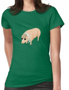 Porco Rosso Back To Home Womens Fitted T-Shirt