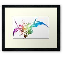 °FINAL FANTASY° Final Fantasy III Rainbow Logo Framed Print