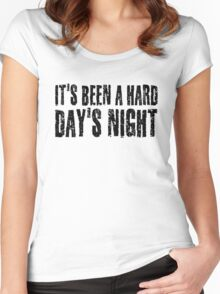 The Beatles Hard Day's night Women's Fitted Scoop T-Shirt