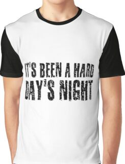 The Beatles Hard Day's night Graphic T-Shirt
