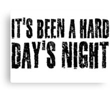 The Beatles Hard Day's night Canvas Print