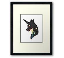 vincent the black unicorn Framed Print