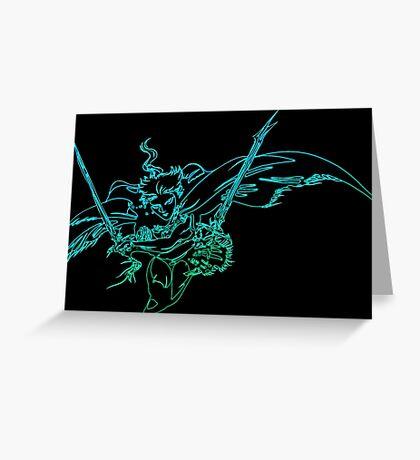°FINAL FANTASY° Final Fantasy III Neon Logo Greeting Card
