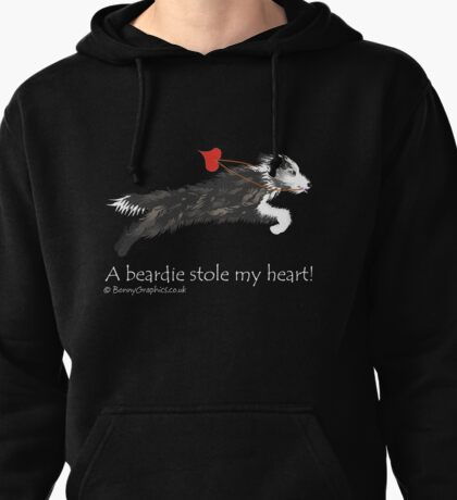 Bearded collie thief designed by Bonny Graphics Pullover Hoodie