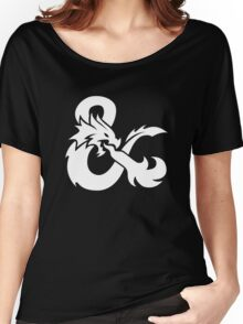 DND White Logo Women's Relaxed Fit T-Shirt
