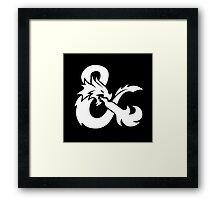 DND White Logo Framed Print