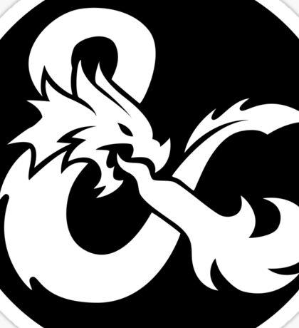 DND White Logo Sticker