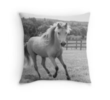 Out for a trot Throw Pillow