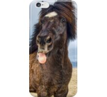 Icelandic horse showing his respect iPhone Case/Skin