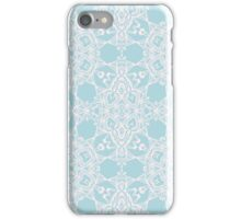 Blue arabesque ornament. Abstract design iPhone Case/Skin