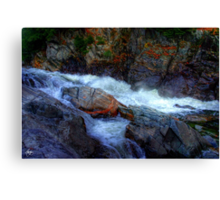Banded Rock at Livermore Falls Canvas Print