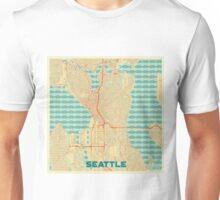 Seattle Map Retro Unisex T-Shirt