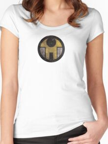 First Line - Abstract - Yellow Women's Fitted Scoop T-Shirt