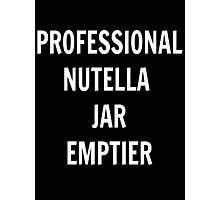 Professional Nutella Jar Emptier Photographic Print